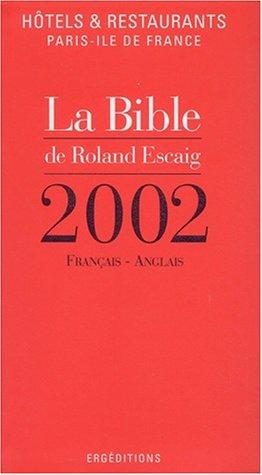 Hotels restaurants Paris Ile de France, 2002