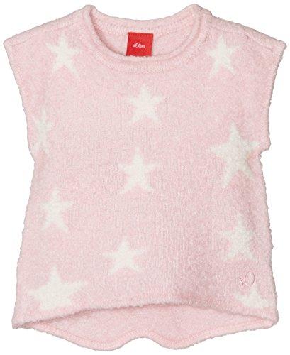 s.Oliver Baby-Mädchen Pullunder mit Jacquard-Motiv, Rosa (Light Pink 4140), 80