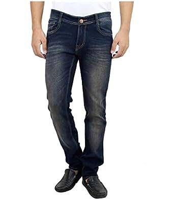 Ben Martin Men's Denim Jeans (Dark Blue with Brown Tint,28)