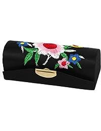 Floral Bordado Mujer Labios Lápiz Labial Chap Frote Estuche De Maquillaje Caja Negro