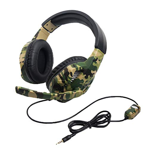 Sacow Gaming Headset, Camouflage PS4 PC Gaming Headset mit Mikrofon Laptop Handy (22mm Aluminium-uhrenarmband)