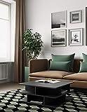 Symbiosis 2130A7600X00 Contemporain Table Basse Multicases Noir 70 x 70 x 28,9 cm