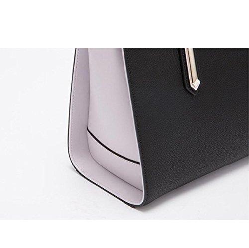 Hit Einkaufstasche Handtasche Damen Lightblue Einfache Mode Messenger Schulter Farbe Bag ggArwqZ