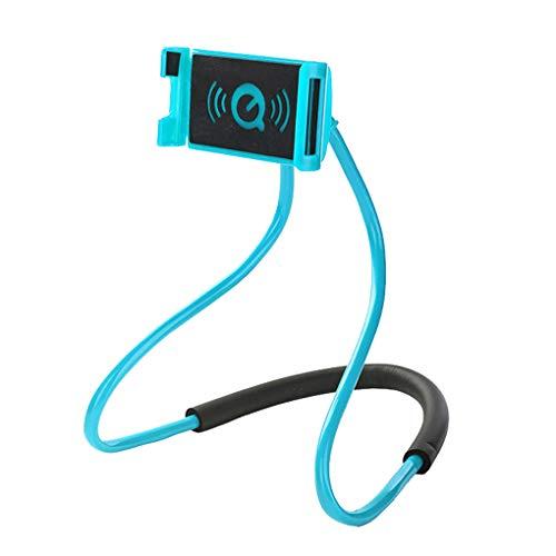 Luckiests Hals hängend Telefon-Halter 360 Grad Drehung Flexible Mobiltelefon-Unterstützung Rack-Stativhalterung -