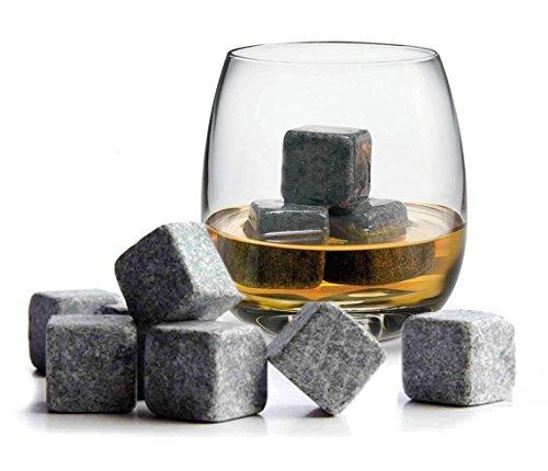 TRIXES 9 Whiskey Steine Eiswürfel hochwertige Kühlsteine Trockeneis