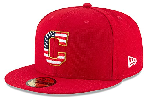 New Era Cleveland Indians Scarlet 4TH of July Cap 59fifty 5950 Fitted MLB Limited Edition
