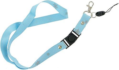 Schlüsselband für Festival-Ausweise, Telefon, Ausweiskarten, Schlüsselring, USB-Stick. Blu Snowflake (Marvel Zombies Youtube)