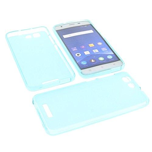 Tasche für Mobistel Cynus F9 Gummi TPU Schutz Hülle Handytasche blau