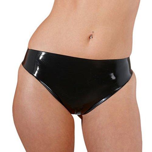 Sharon Sloane 2866210000 Latex Slip ouvert, schwarz, M, 1 Stück