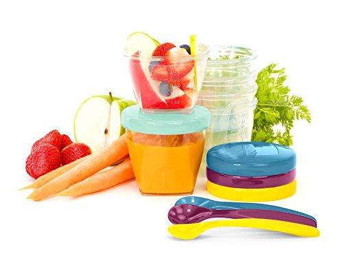 Babymoov Babybols Aufbewahrungsbehälter für Babynahrung - Multi-Set 15-teilig (3 x 120 ml + 3 x 180 ml + 6 x 250 ml + 3 flexible Löffel), hermetischer Drehverschluss - 2