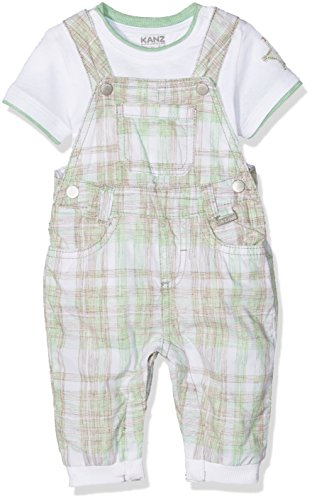 Kanz Baby-Jungen Bekleidungsset Latzhose +T-Shirt 1/4 Sleeves, Mehrfarbig (Y/D Check 0002), 80