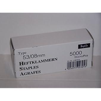 Rapid Industrie 1000agrafes fines type 53/8mm, lot de 5000Boîte, 11857070
