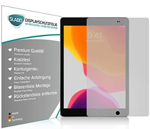 Slabo 2 x Displayschutzfolie für iPad 10.2 (2019) Displayschutz Schutzfolie Folie No Reflexion | Keine Reflektion MATT
