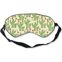 Natural Silk Eyes Mask Sleep Cactus and Flowers Blindfold Eyeshade with Adjustable for Travel,Nap,Meditation,Sleeping... preisvergleich bei billige-tabletten.eu