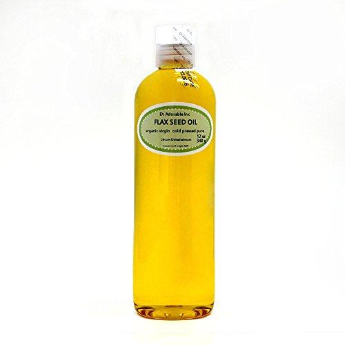 Flax Seed Oil Organic Pure 12 Oz