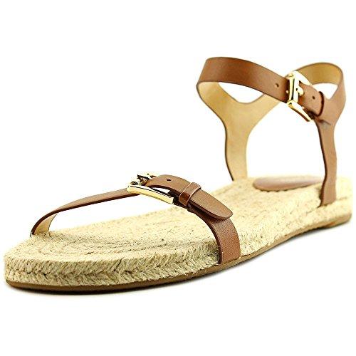 Michael Michael Kors Kyla Flat Sandal Cuir Sandale Luggage