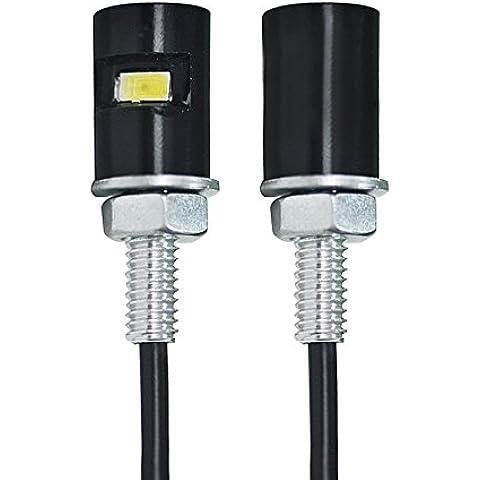 VANDESAIL 2pz LED SMD Luci Numero Targa 12V Bolt Lampada Vite per Auto Moto Luce Della Targa (Luce Bianca)