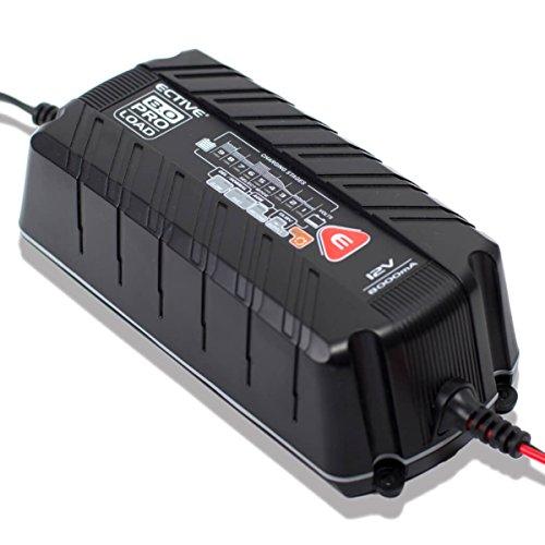 ECTIVE Batterieladegerät 12V 8A 9 Stufen Vollautomatisch | 4 und 8 Amp Ladegerät KFZ Auto und Motorrad Batterie