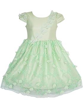 Sunny Fashion Vestito Bambina Fiore Farfalla Partito Matrimonio Damigella d'onore 4-10 anni