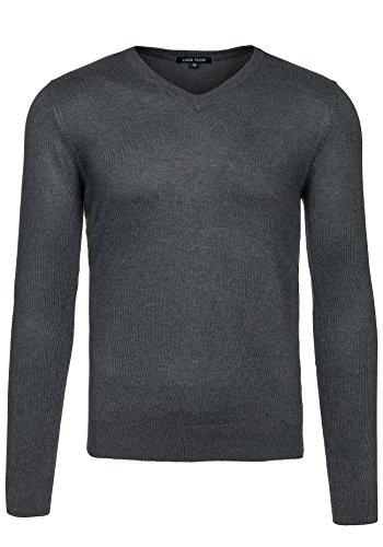 BOLF Herren Pullover Sweater Sweatshirt Strickpullover Pulli Slim Mix 5E5 Motiv Anthrazit_6005