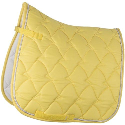 HKM by Reiterladen24 - Schabracke Cassandra Softice neon gelb/Silber Warmblut Dressur