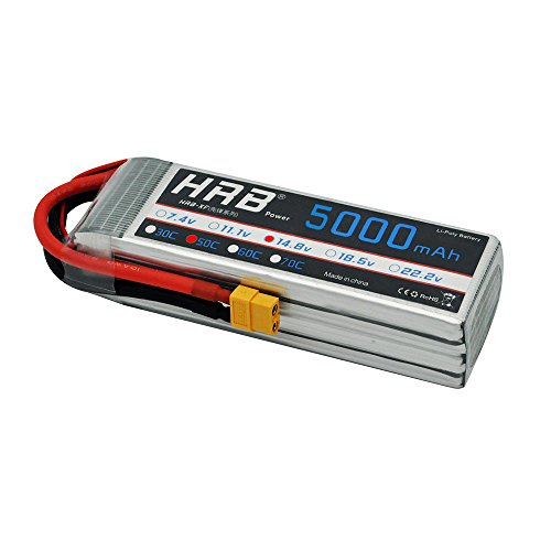HRB 5000mAh 14.8V 50C 4S Lipo Akku Pack for FPV Racing Quadcopters Diverse Racing Cars Helikopter Flugzeuge und - 4 Rc-flugzeuge Maßstab 1
