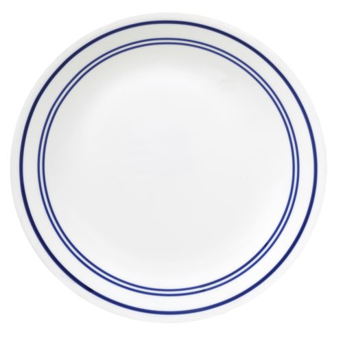 Corelle Livingware Dinner Plate, 10-1/4-Inch, Classic Cafe Blue by CORELLE (Classic Cafe Corelle)