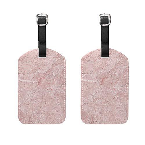 2 PCS Luggage Tags Marble Pattern Texture Etiquetas de Equipaje Etiquetas de...