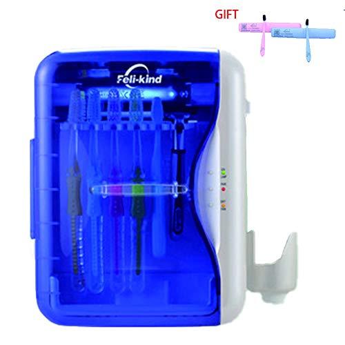 BEIAKE UV-Sterilisator Zahnbürste, Intelligent Sterilisation UV-Sterilisator Shelf-Free Wand- Aufbewahrungsbehälter für Badezimmer