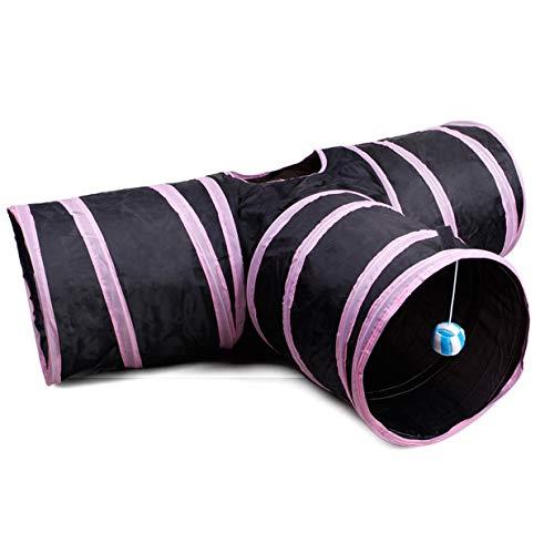 Preisvergleich Produktbild Banbie8409 Pet Supplies Pet Katze Tunnel 3 Way Faltbare Katze Tunnel Katze Spielzeug Drill Eimer