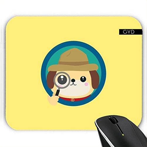 Mousepad - Hund Detektiv Mit Lupe by ilovecotton