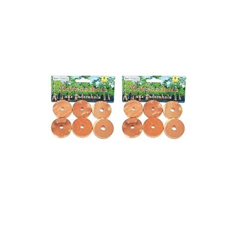12 Mottenschutzringe aus Zedernholz (Kleidermottenbekämpfung)
