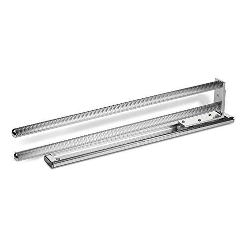 Handtuchhalter SO1-18a - Toallero extensible de aluminio (2 brazos rotatorios, 444 mm), color cromado
