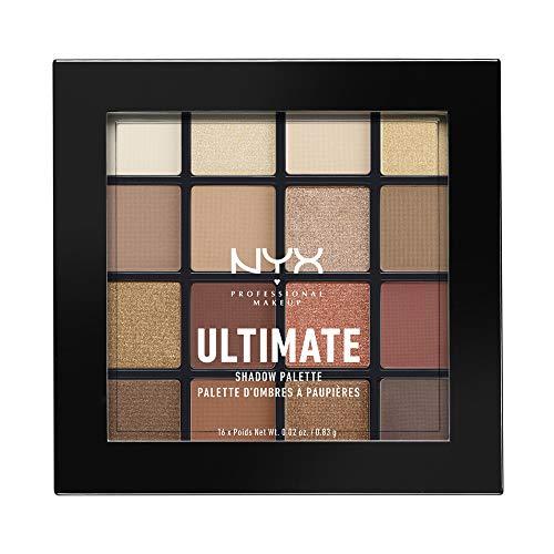 NYX Professional Makeup Ultimate Shadow Palette, Lidschattenpalette, 16 Farbtöne, Schimmernd und Metallisch, Individuelles Finish, Farbton: Warm Neutrals