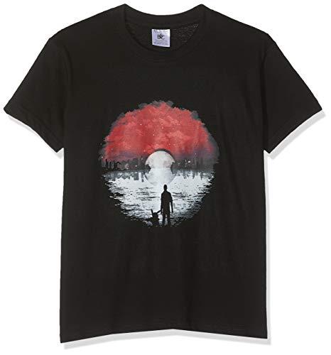 Texlab Poke Skyline Logo - Kinder T-Shirt, Größe L, Schwarz