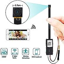 Mini Cámara WiFi, UYIKOO 1080P HD Cámara Espía WiFi Cámara Oculta Soporte Detección de Movimiento