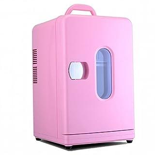 DEED Réfrigérateur de Voiture 12L Mini Mini-Réfrigérateur Étudiant Couchette Mini-Froid Et Chaude Boîte à la Maison Maquillage Médicament Peut Être Refroidi/Chauffage,Rose,12L