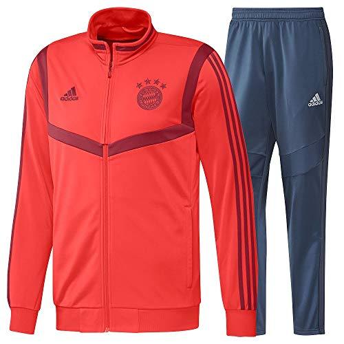 adidas Performance FC Bayern München PES Trainingsanzug Herren rot/dunkelblau, L - Bayern München Training