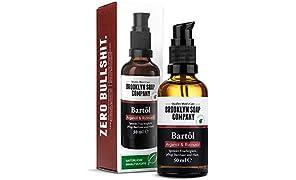 Bartöl (50ml) · BROOKLYN SOAP COMPANY · Bart Öl für die tägliche Bartpflege von 3-Tage-Bart oder Vollbart · Beard Oil als Geschenk für Männer und für die Reise ✓