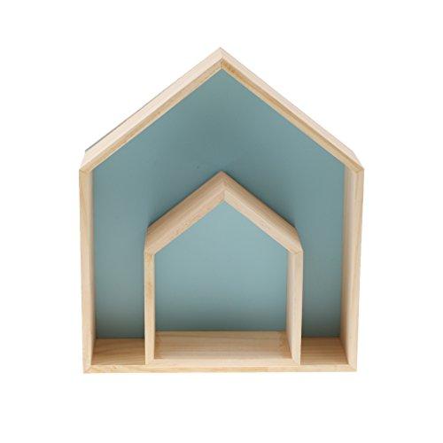 Lot De 2 Tagres Murales Pour Chambre Par Baoblaze Cadre Photo Dcoration Denfant Salon Coucher Salle Bain Bleu