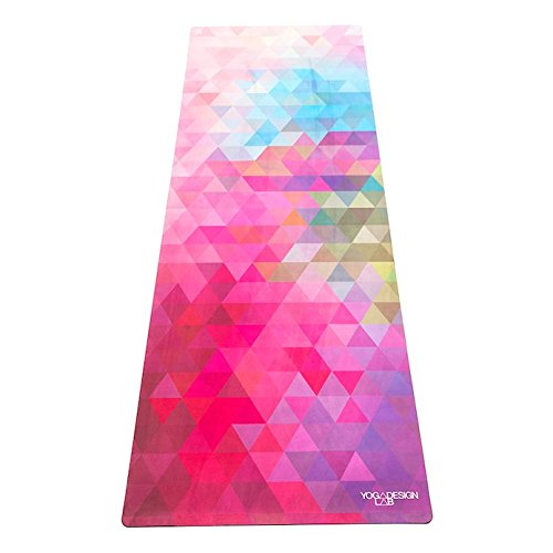 Yoga Design Lab Pendler Yogamatte 1,5mm | rutschfest, Faltbar, Leicht, Matte/Handtuch, Waschmaschinenfest | mit Tragegurt (Tribeca Sand) -