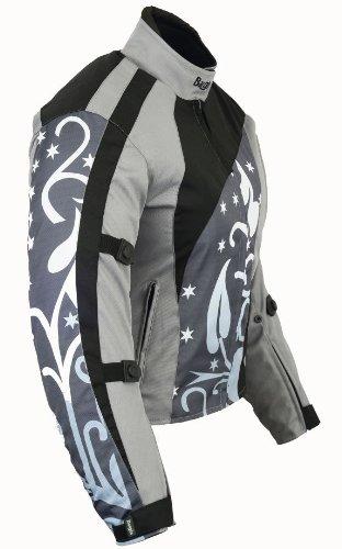 B-07 Bangla Damen Motorrad Jacke Textil Cordura600 Grau gemustert S - 3