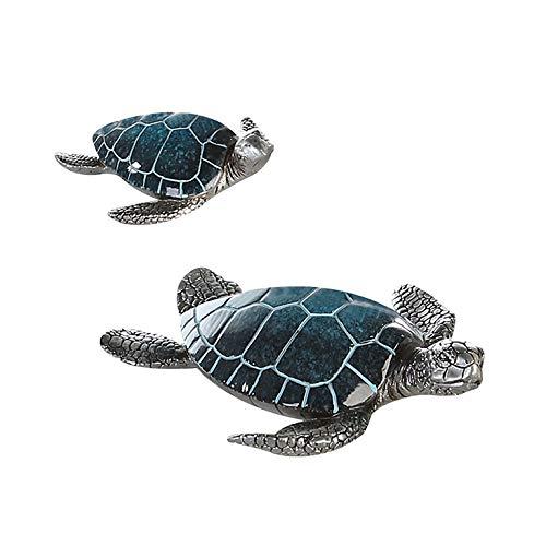 Casablanca Schildkröte Josie Poly,blau/Silber L.18cm