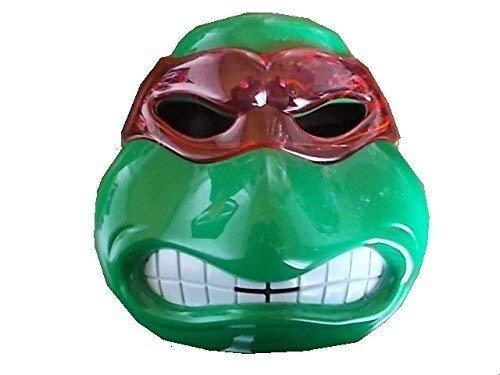 Kinder Raphael Kostüm Maske - Neue Turle Ninja Maske (roter Schleier Raphael) mit LED Beleuchtung für Kinder
