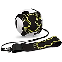 U&X 2 unidades de entrenador de patadas de fútbol, entrenamiento de fútbol para niños y adultos, solo entrenamiento, con cinturón, cuerda elástica, entrenamiento de mejora de práctica de fútbol