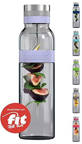 boddels Glaskaraffe SUND 1.100 ml (Lavendelblau) - Deine Wasserkaraffe für zuhause
