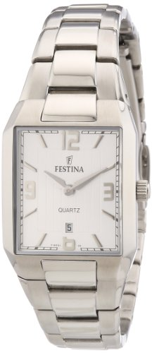 Festina F16501/5 - Reloj analógico de cuarzo para mujer con correa de acero inoxidable, color plateado