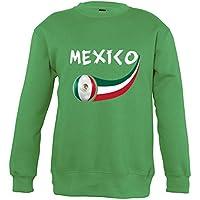 Supportershop–Sweatshirt México Mixta Infantil, Verde, FR: XL (Talla Fabricante: 10años)