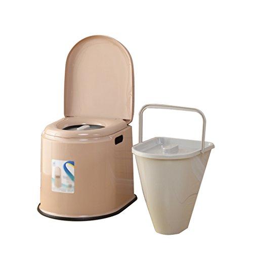 MyAou-commode Toilette Chaise Portable Toilette Antidérapante Toilette Voyage Camping Randonnée Pique-Nique en Plein Air (Couleur : B)