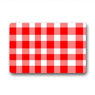 Personal custom rosso e bianco zerbino personalizzato doormat 23.6